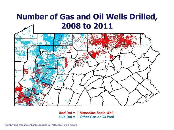 Figure 9: Pennsylvania Oil and Gas Wells Map (Source: Center for Rural Pennsylvania)